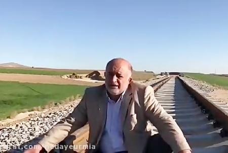 ریل های قطار ارومیه غیر استاندارد و پوسیده است