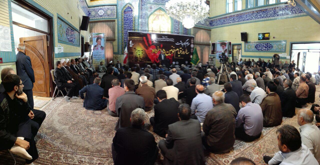 مراسم گرامیداشت سالروز حماسه پانزدهم خرداد در ارومیه برگزار شد