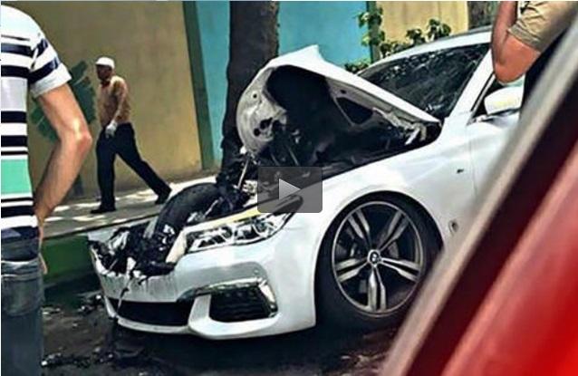 فیلم/ لحظه تصادف دو BMW در خیابان های ارومیه