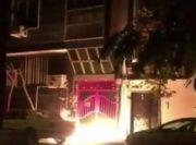 فیلم / آتش زدن ورودی ساختمان باشگاه پرسپولیس!
