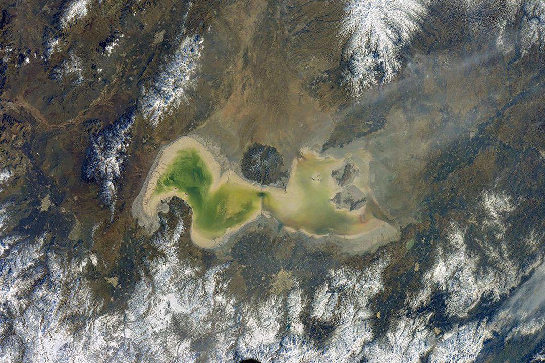 وسعت دریاچه ارومیه ۱۱ کیلومتر کاهش یافت
