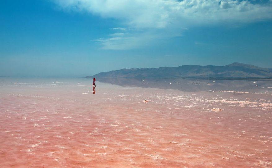 افزایش ۲ سانتی متر آب دریاچه ارومیه نسبت به سال گذشته
