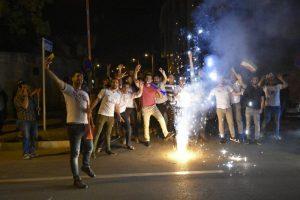 تصاویر/ جشن مردم ارومیه بعد از پیروزی تیم ملی ایران در برابر مراکش