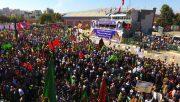 تجمع ۴۰ هزار نفری بسیجیان در آذربایجان غربی برگزار شد