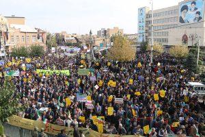 راهپیمایی ۱۳ آبان در ارومیه