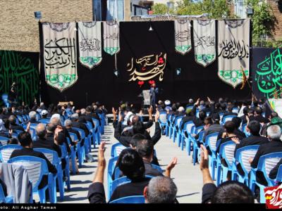 مراسم عزاداری تاسوعای حسینی در مسجد جنرال ارومیه